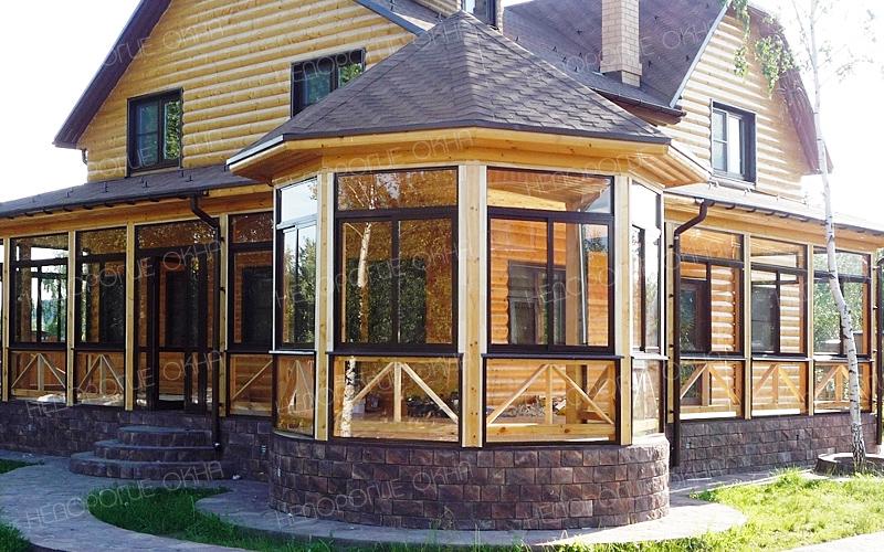 Остекление беседок, веранд пластиковыми и алюминиевыми окнам.